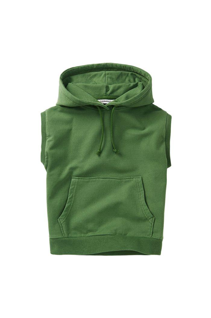 Mingo Sleeveless Hoodie Moss Green_1