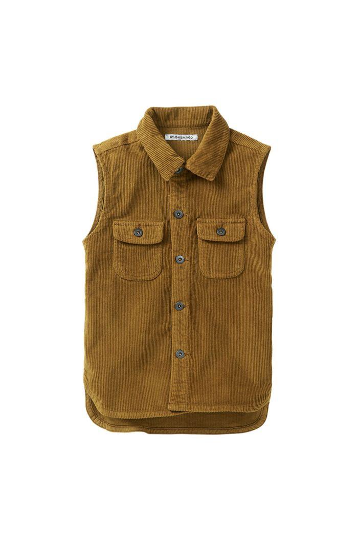 Mingo Corduroy Sleeveless Shirt Ochre_1
