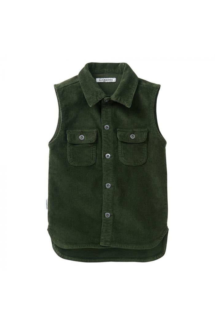 Mingo Corduroy Sleeveless Shirt Forest Night_1