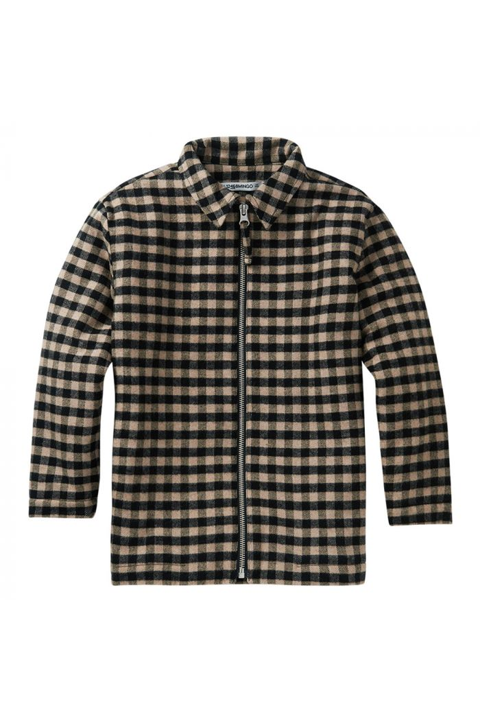 Mingo Flannel Checked Shirt Caramel / Black_1
