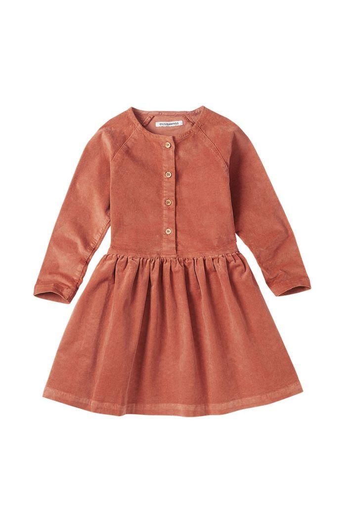 Mingo Corduroy Button Dress Light Terracotta_1