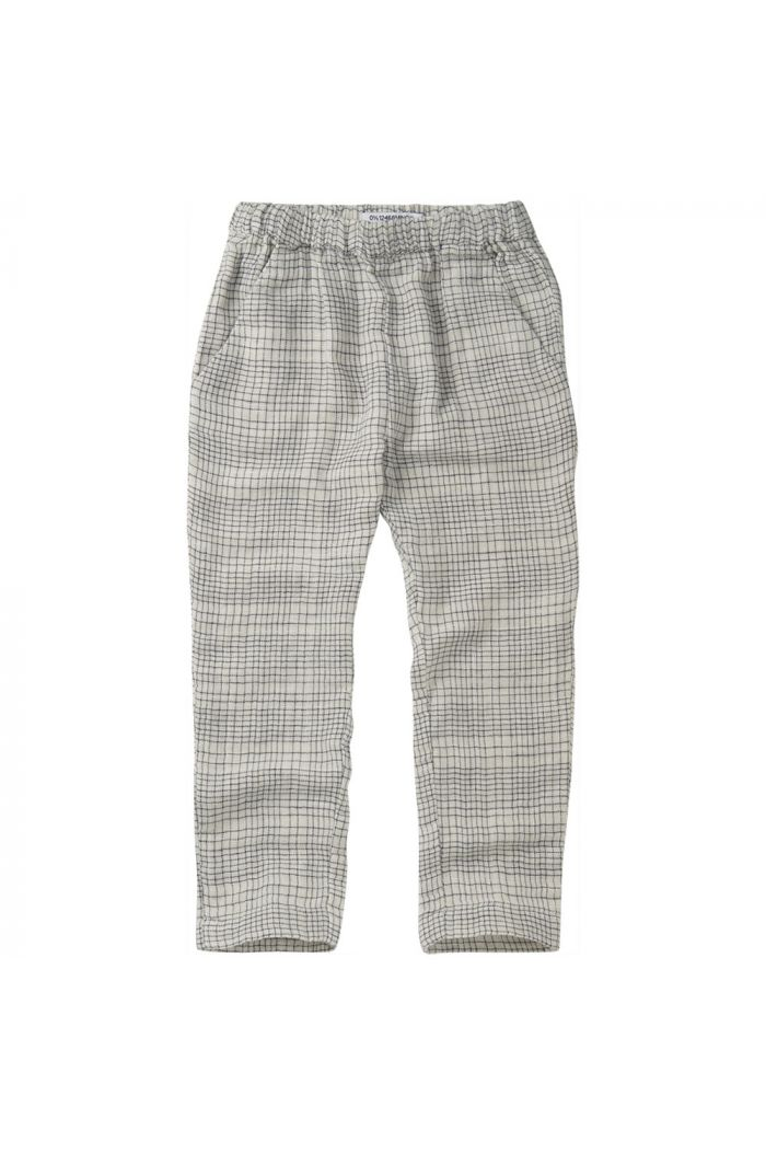 Mingo Tapered Trouser Block Pattern White/Blue_1