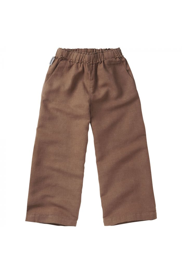 Mingo Linen Wide Pants Warm Earth_1