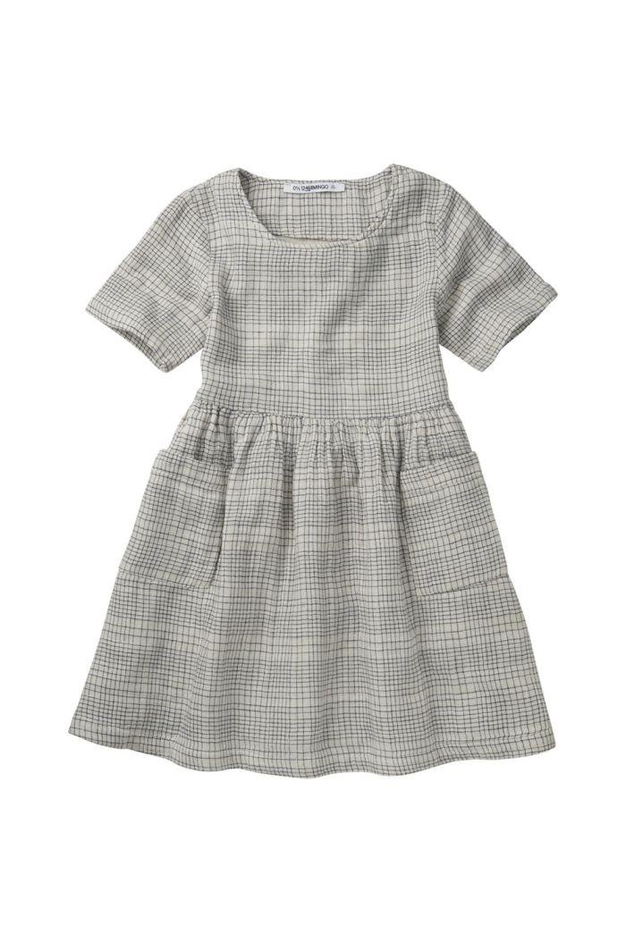 Mingo Dress Block Pattern White/Blue_1