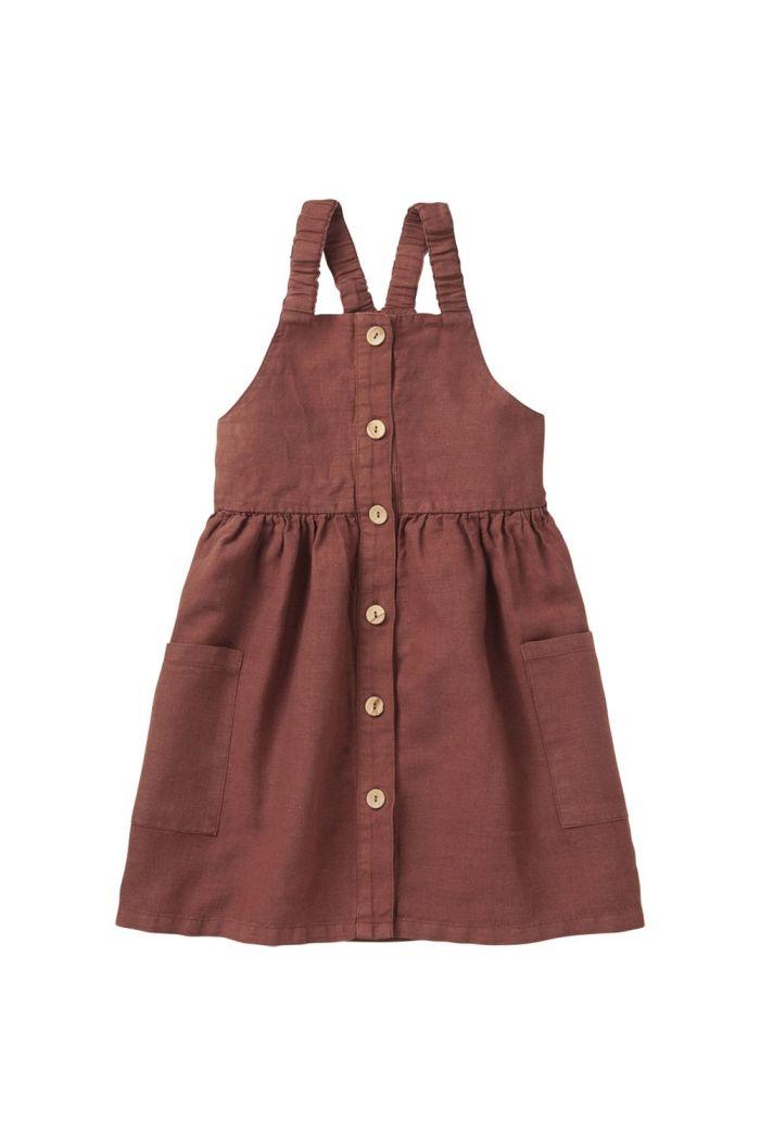Mingo Linen Pinafore Dress Sienna Rose_1