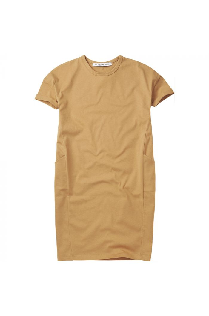 Mingo T-shirt Dress Light Ochre_1