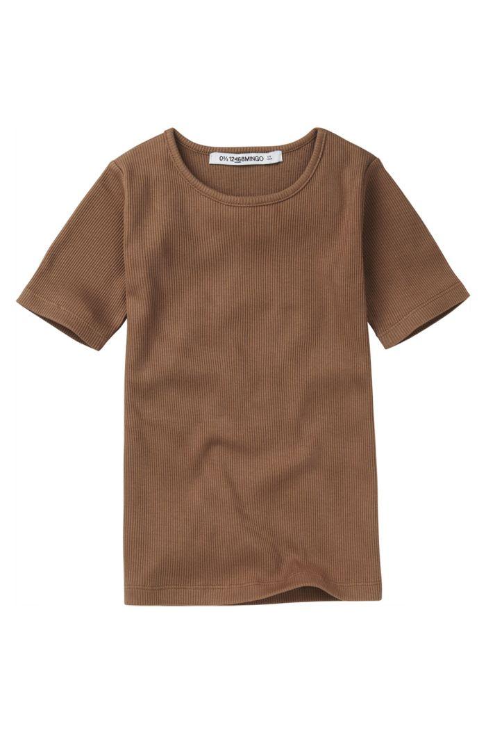 Mingo Rib Top Short Sleeve Warm Earth_1