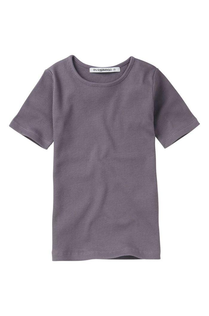 Mingo Rib Top Short Sleeve Lavender_1