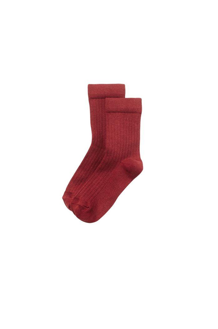 Mingo Socks Brick Red_1