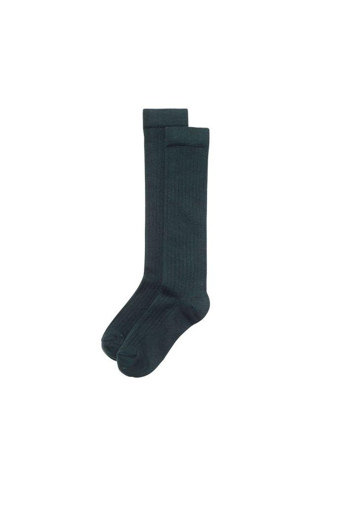 Mingo Knee Socks Dark Emerald_1