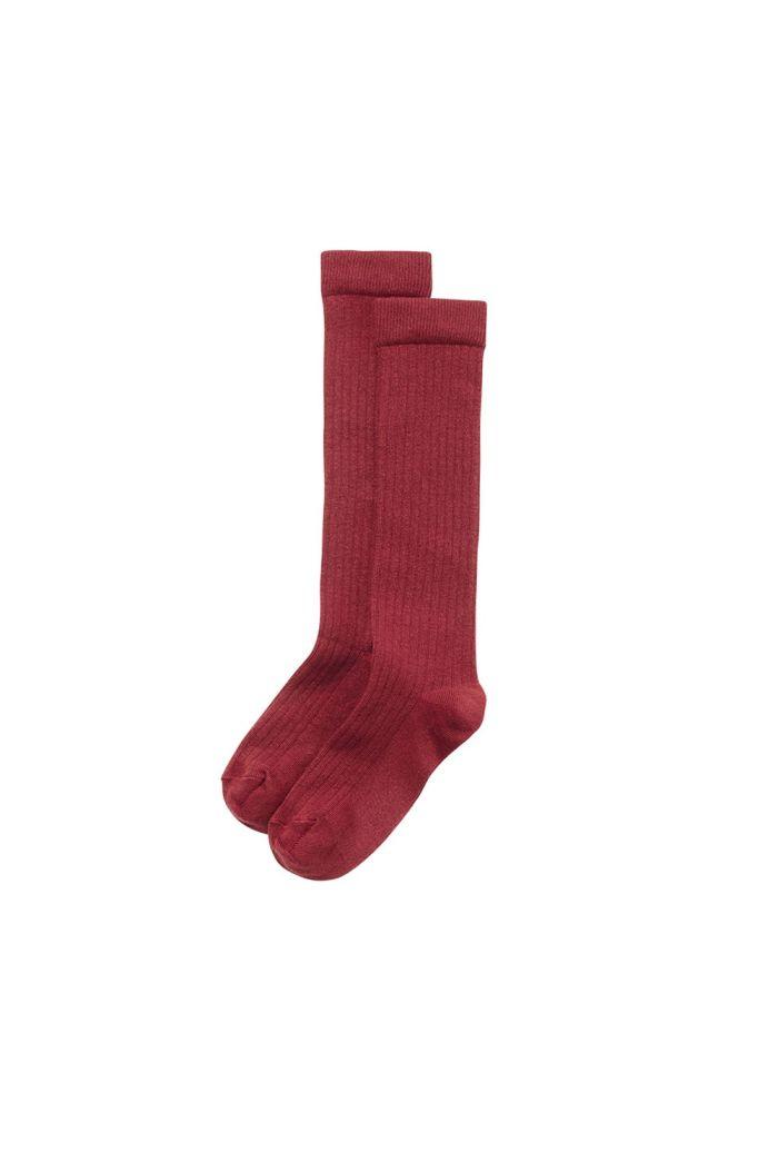 Mingo Knee Socks Brick Red_1
