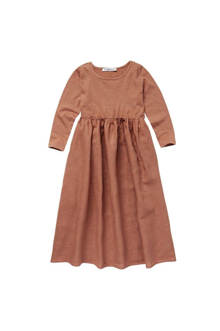 Mingo Linen Dress Chocolate Milk_1