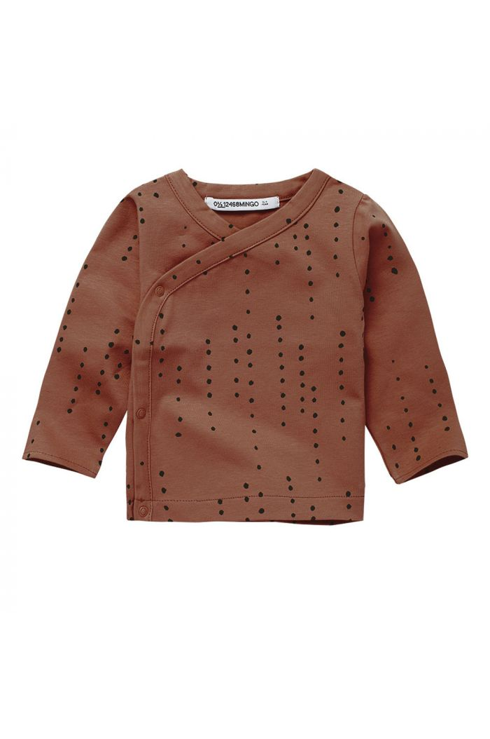 Mingo Wrap Top Dewdrops on Burnished Leather_1