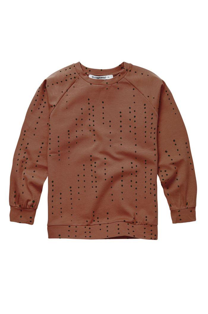 Mingo Long Sleeve Dewdrops on Burnished Leather_1