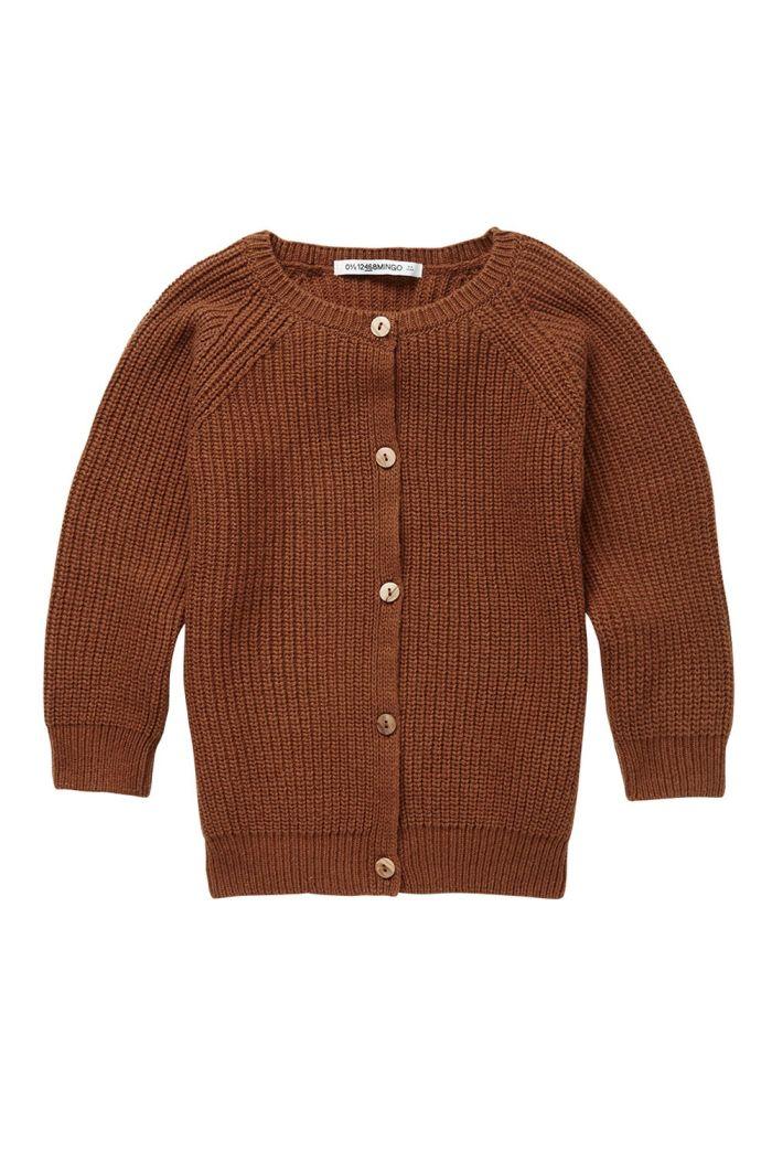 Mingo Knit Cardigan Burnished Leather_1