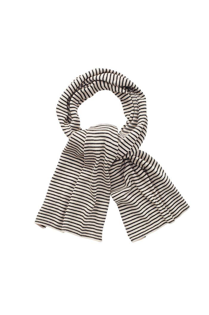 Mingo Knit Scarf Monochrome Stripes