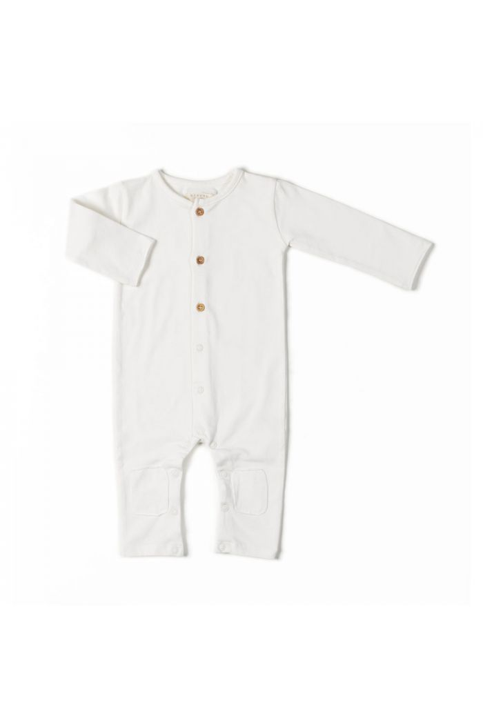Nixnut Button Onesie Off White_1