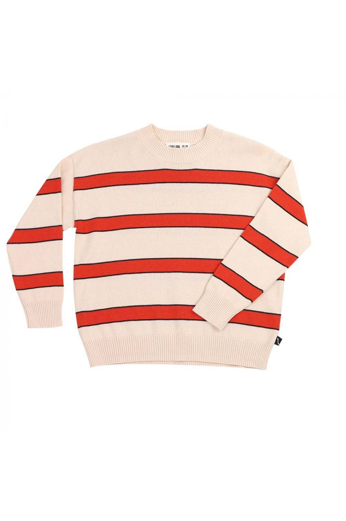 CarlijnQ sweater stripes (knit) Palm leaf