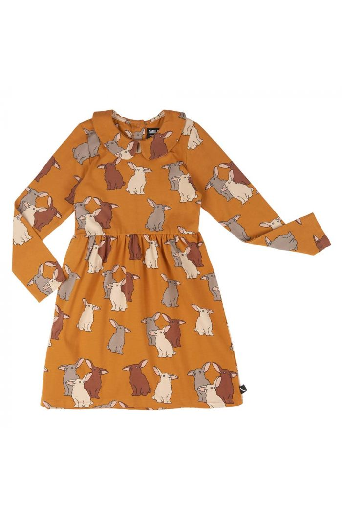 CarlijnQ Skater Dress With Collar Rabbits_1