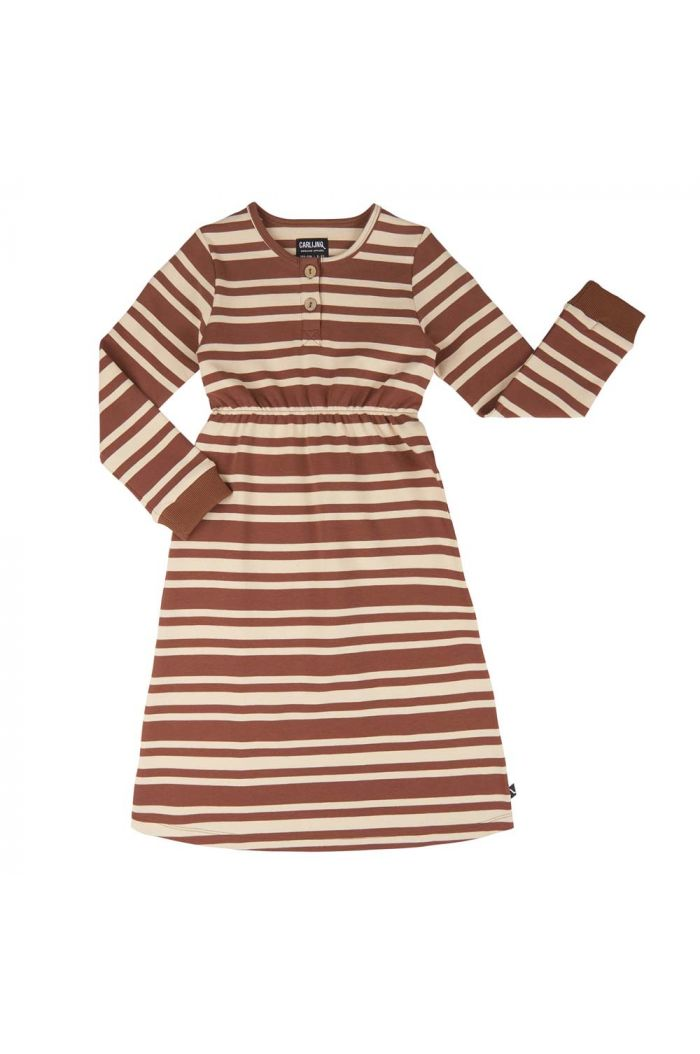 CarlijnQ 2 Button Dress Stripes _1