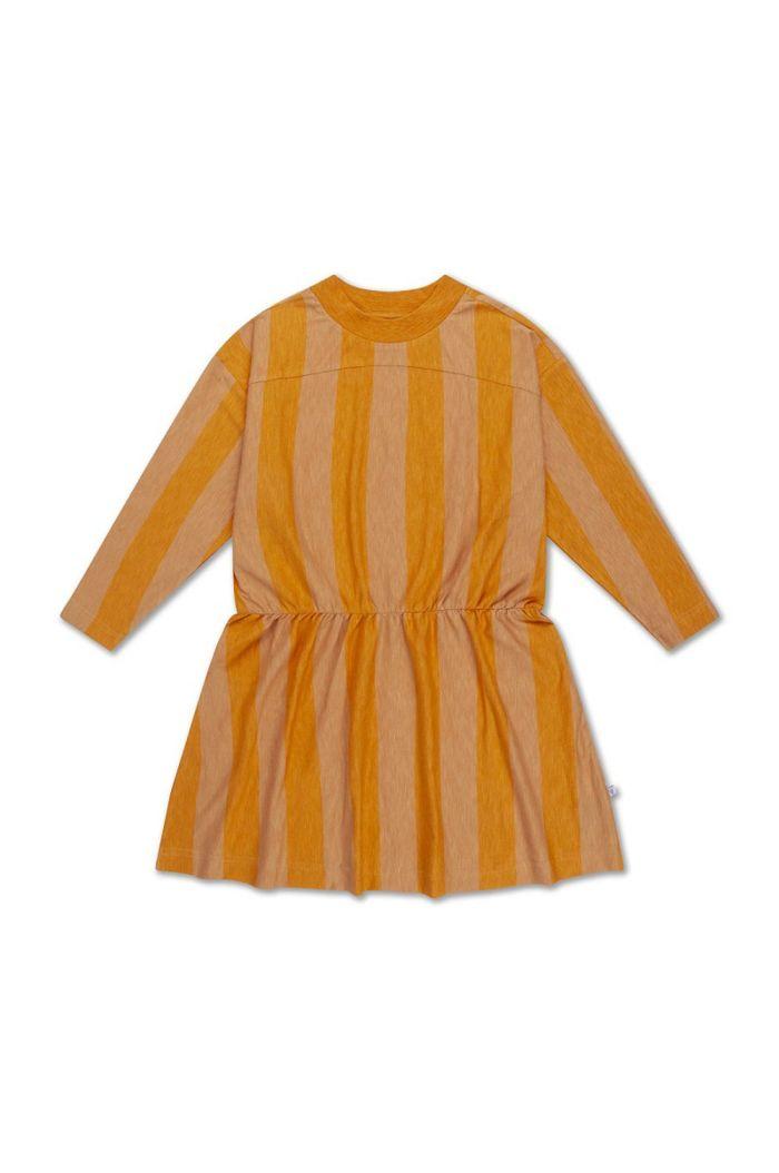 Repose AMS skater dress golden block stripe