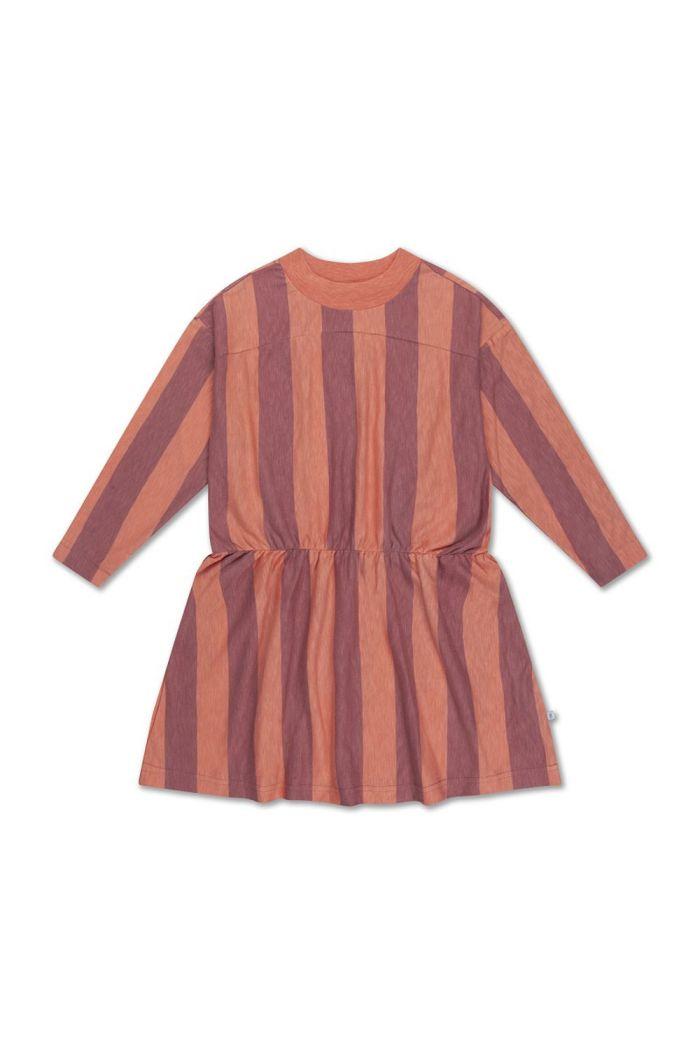 Repose AMS skater dress peachy block stripe
