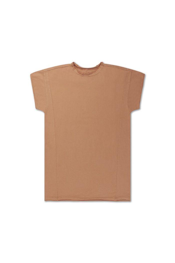 Repose AMS tee shirt dress butterscotch