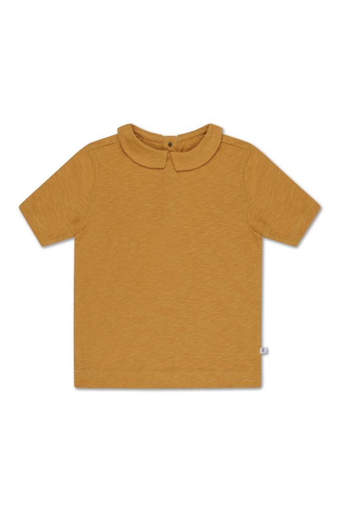 Repose AMS t shirt with collar sun gold