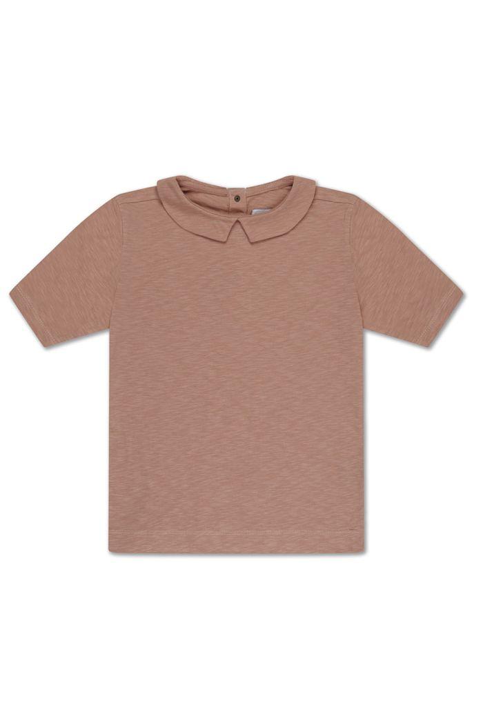 Repose AMS t shirt with collar powder creme