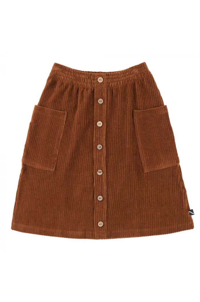 CarlijnQ Basics - Midi Skirt - Buttons & Pockets  Brown