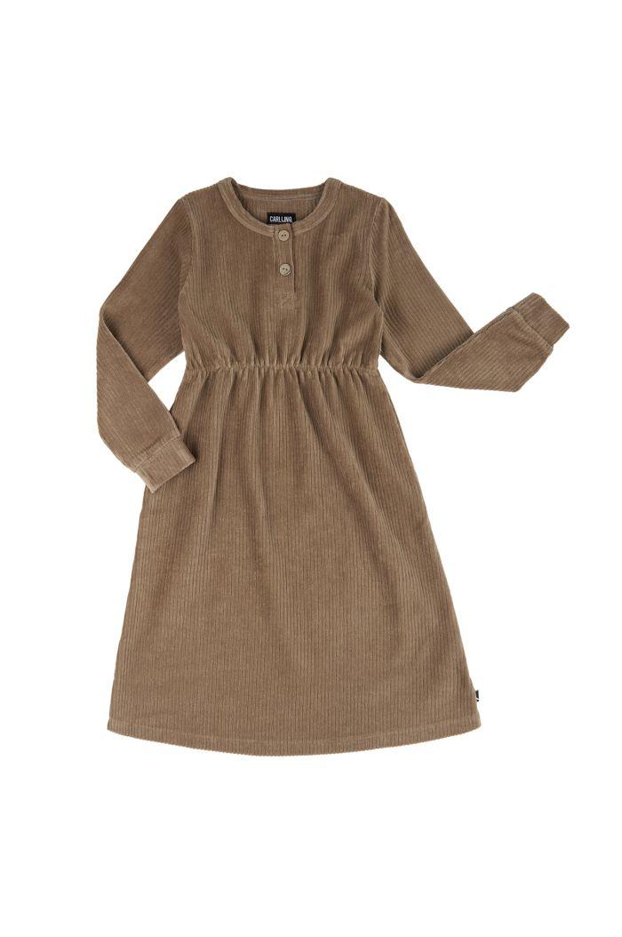 CarlijnQ Basics - 2 Button Dress  Grey_1