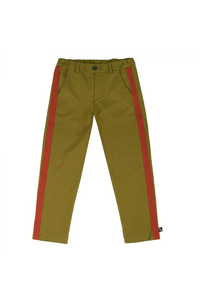 CarlijnQ Basics - Chino With Tape Green_1