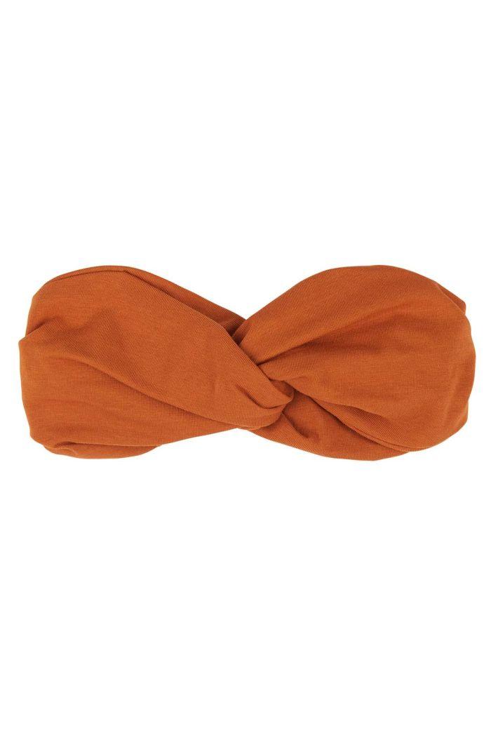 CarlijnQ Basics - Twisted Headband Orange