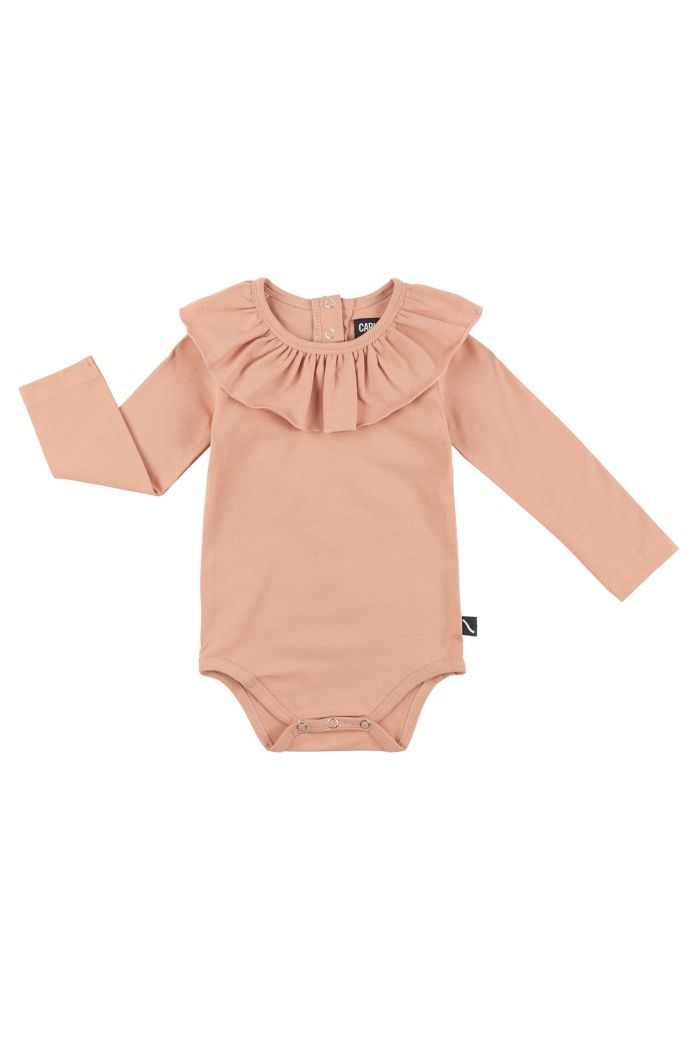 CarlijnQ Basics - Bodysuit With Big Collar Pink_1