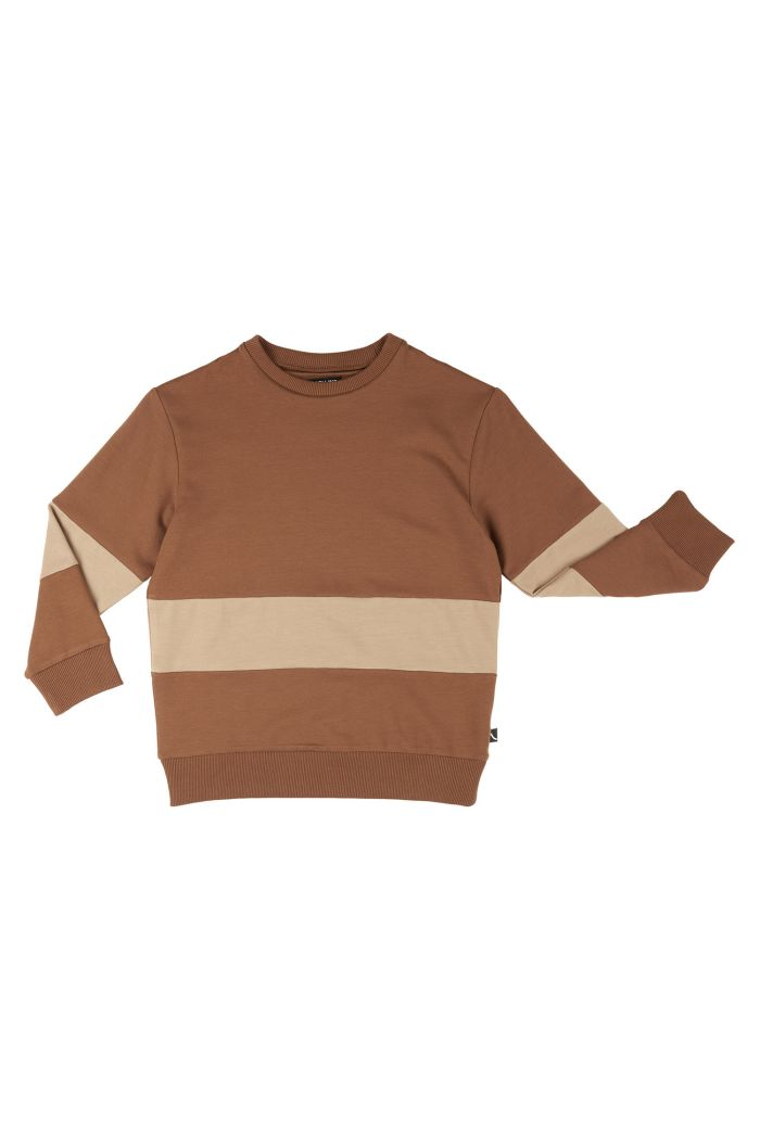 CarlijnQ Sweater Block  Basics - Brown_1