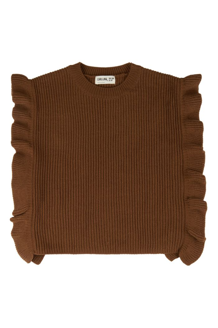 CarlijnQ Basics Knit - Girls Spencer  Brown_1