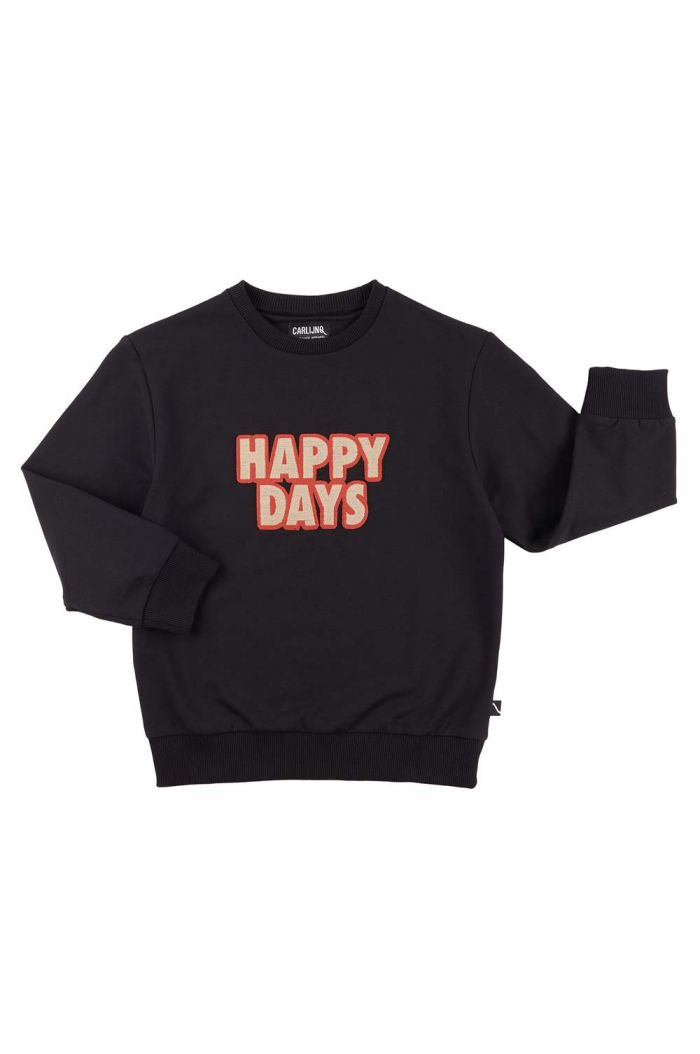 CarlijnQ Sweater + Embroidery Patch Happy Days_1