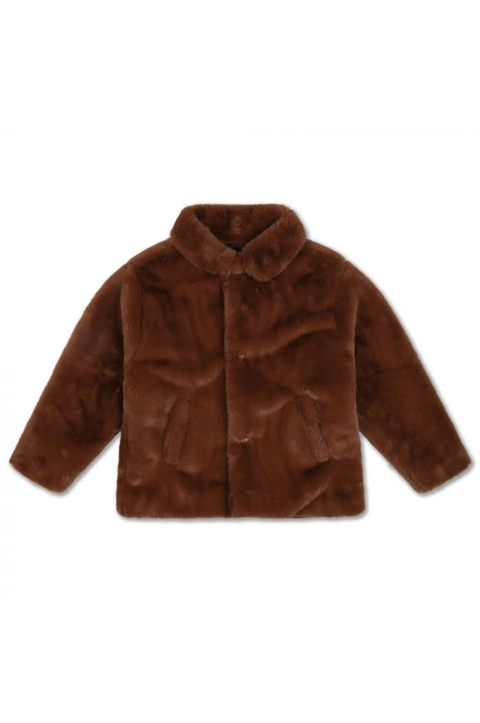 Repose AMS Boxy Collar Coat Warm Chestnut_1