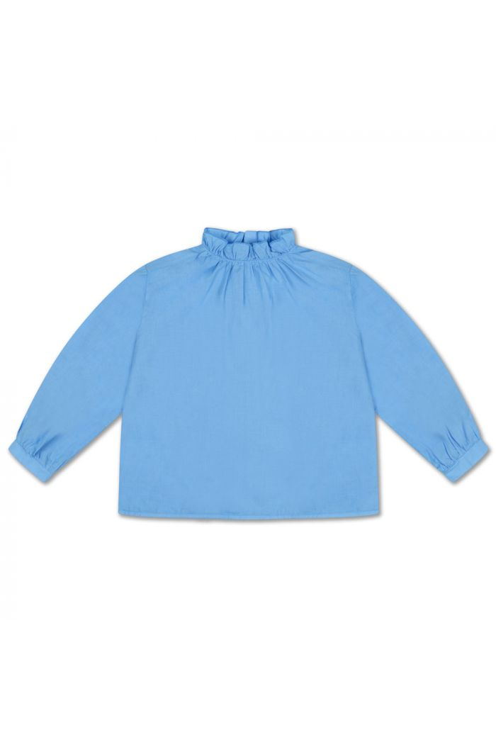 Repose AMS Ruffle Blouse Bright Sky Blue_1