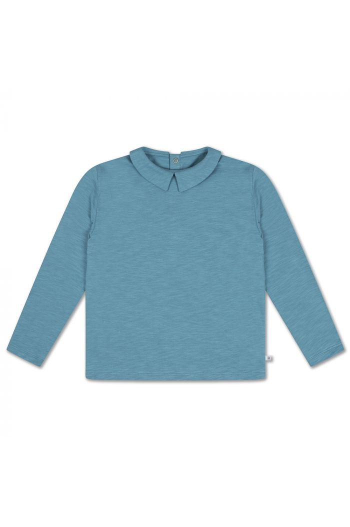 Repose AMS T Shirt With Collar Dusty Storm Blue_1