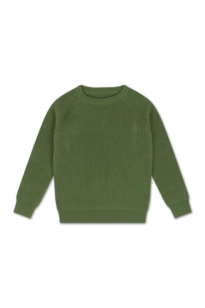 Repose AMS Knit Raglan Sweater Hunter Green_1