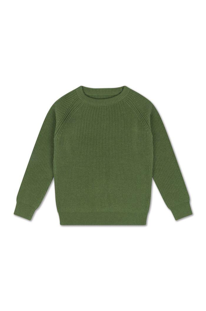 Repose AMS Knit Raglan Sweater Hunter Green_1