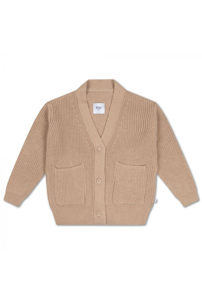 Repose AMS Knit Grandpa Cardigan powder tan_1