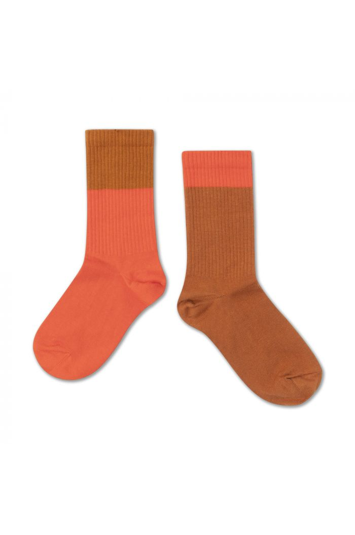 Repose AMS Socks  Vibrant Red Autumn Block_1