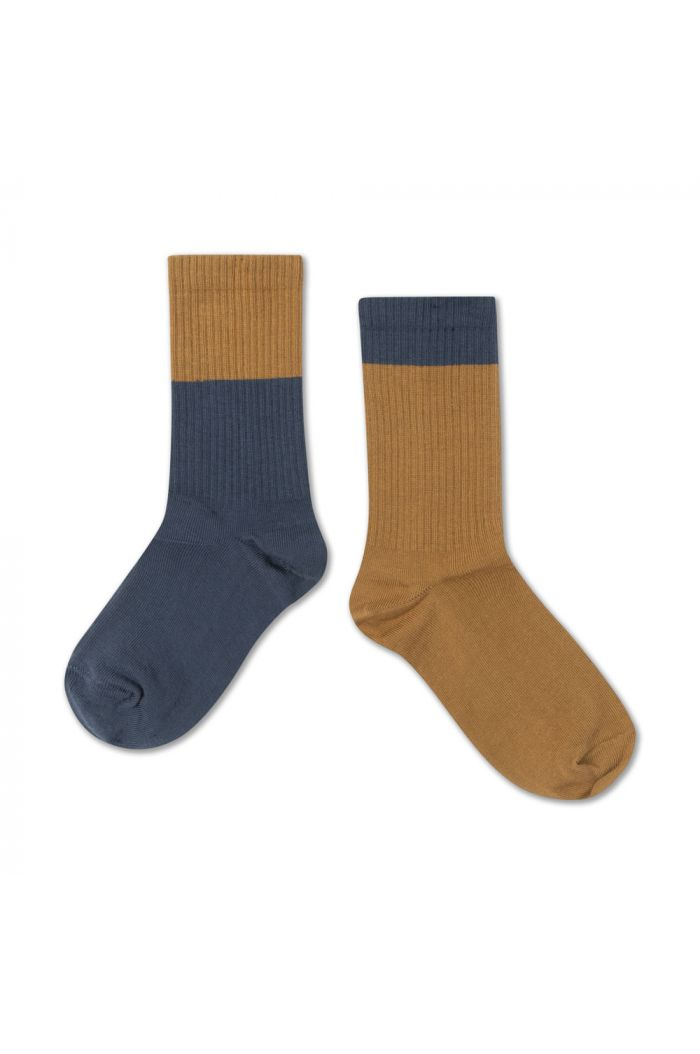 Repose AMS Socks  Dark Navy Golden Block_1