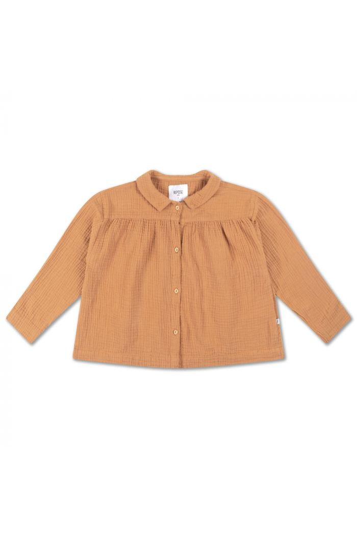 Repose AMS Collar Blouse Warm Powder_1