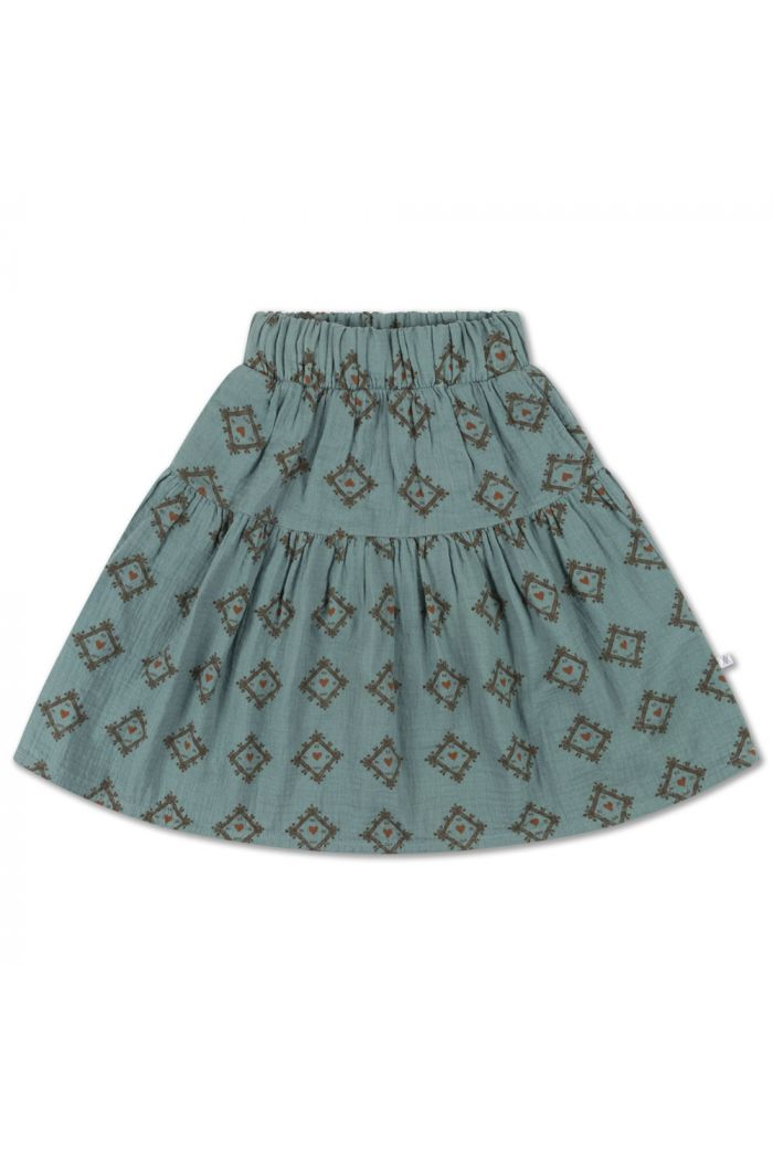 Repose AMS Midi Skirt Tiles Heart All Over_1