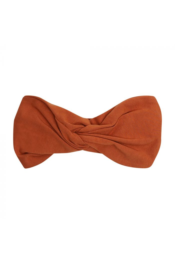 CarlijnQ Twisted Headband Basics - Rust_1