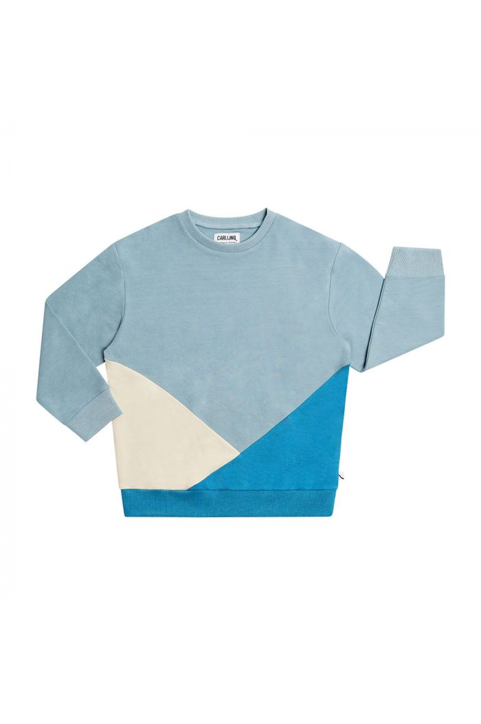 CarlijnQ Color Block Sweater Basics - Blue_1