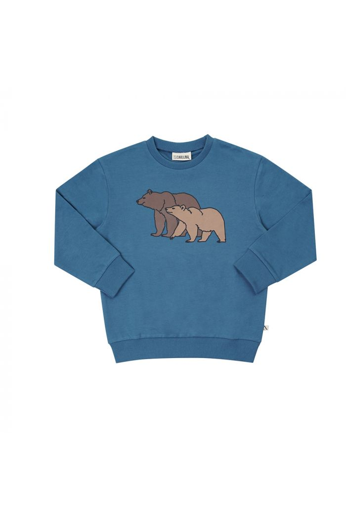 CarlijnQ Sweater (blue) With Print Grizzly_1